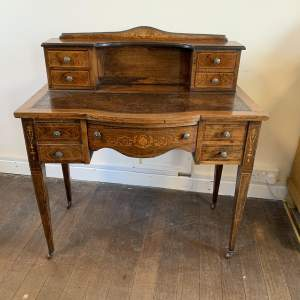 Edwardian Inlaid Rosewood Ladies Writing Desk