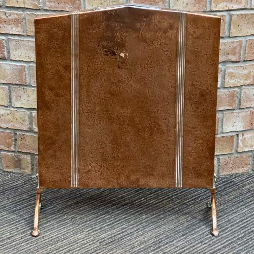 Arts and Crafts Copper Fire Screen image-1