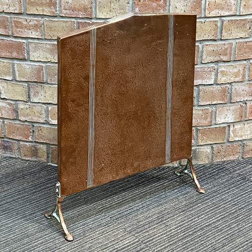 Arts and Crafts Copper Fire Screen image-2