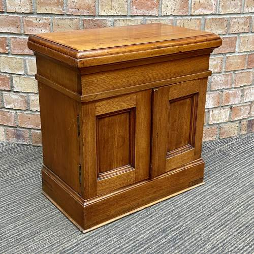 Small Oak Two Door Storage Cabinet image-2