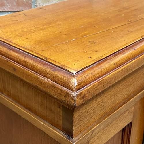 Small Oak Two Door Storage Cabinet image-4