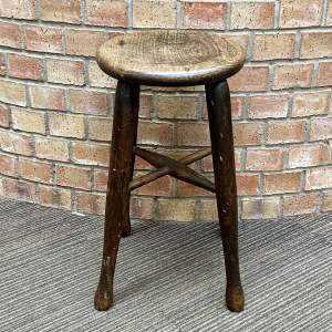 Industrial Wooden Work Stool