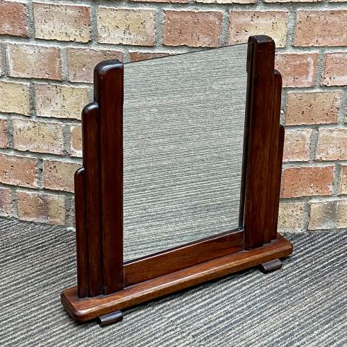Art Deco 1920s Odeon Shaped Vanity Mirror image-2