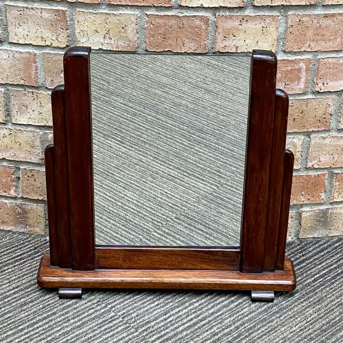 Art Deco 1920s Odeon Shaped Vanity Mirror image-1