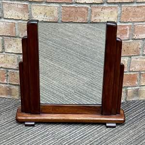 Art Deco 1920s Odeon Shaped Vanity Mirror