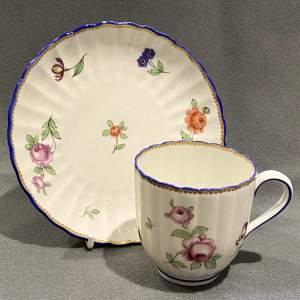 Late 18th Century Chelsea Derby Cup and Saucer