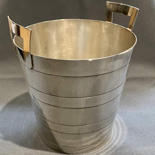 Art Deco Walker and Hall Silver Plated Wine Cooler image-1