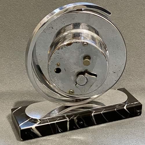 Art Deco 8 Day Chrome Desk Clock image-4