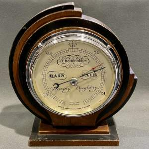Art Deco Short and Mason Barometer