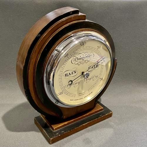 Art Deco Short and Mason Barometer image-2