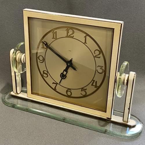 1930s Art Deco Style 8-Day Mantel Clock image-2