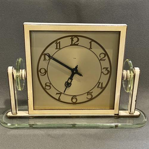 1930s Art Deco Style 8-Day Mantel Clock image-1