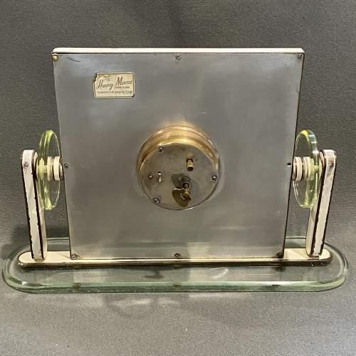 1930s Art Deco Style 8-Day Mantel Clock image-5