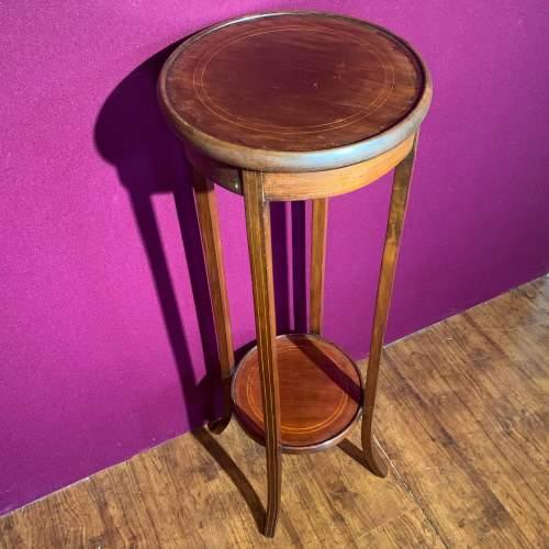 Edward VII Mahogany Inlaid Circular Jardinere Stand image-2