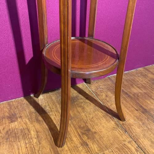 Edward VII Mahogany Inlaid Circular Jardinere Stand image-4