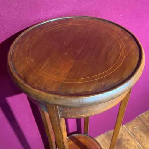 Edward VII Mahogany Inlaid Circular Jardinere Stand image-5