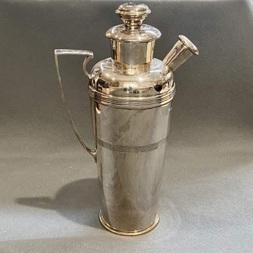 Rare Igene Art Deco Silver Plated Cocktail Shaker image-1