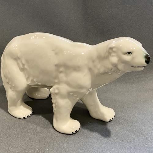 Early 20th Century Ceramic Polar Bear image-1