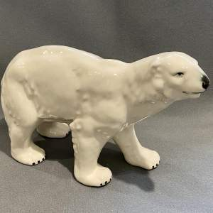 Early 20th Century Ceramic Polar Bear
