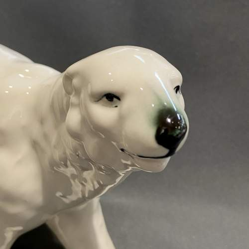 Early 20th Century Ceramic Polar Bear image-2