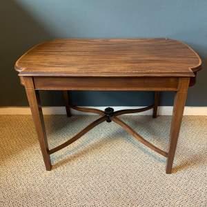 Edwardian Inlaid Mahogany Low Coffee Table