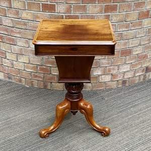 Victorian Mahogany Trumpet Sewing Table