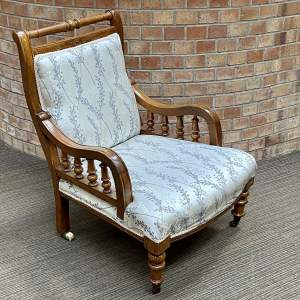 Victorian Oak Framed Parlour Chair