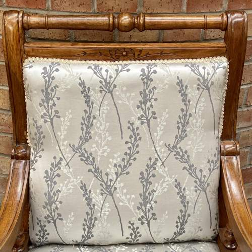 Victorian Oak Framed Parlour Chair image-4