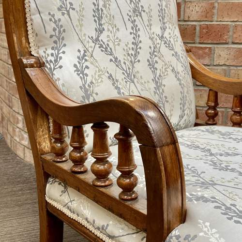 Victorian Oak Framed Parlour Chair image-3