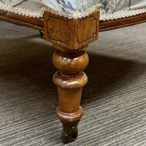 Victorian Oak Framed Parlour Chair image-5