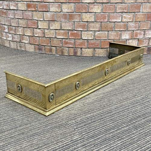 Early 20th Century Brass Fire Fender image-1