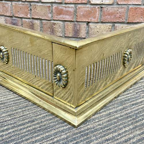 Early 20th Century Brass Fire Fender image-3