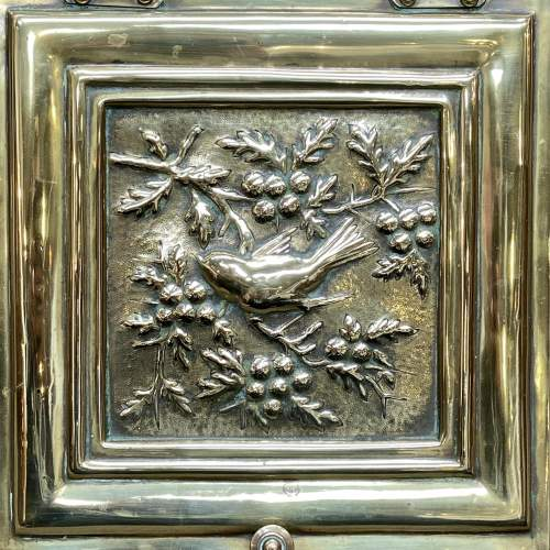 Aesthetic Movement Victorian Brass Coal Box and Shovel image-2