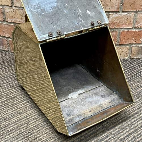 Aesthetic Movement Victorian Brass Coal Box and Shovel image-6