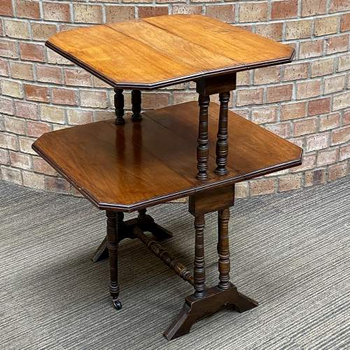 Victorian Mahogany Two Tier Sutherland Table image-1