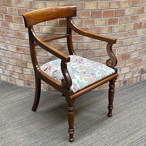 19th Century Mahogany Elbow Chair image-1