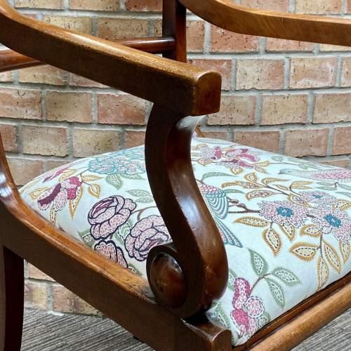 19th Century Mahogany Elbow Chair image-2