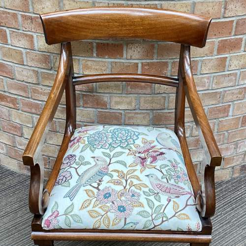 19th Century Mahogany Elbow Chair image-4