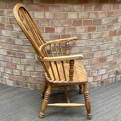 19th Century Elm and Beech Windsor Chair image-3
