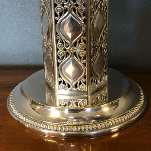 WMF Arts and Crafts Silver Plated Tazza with Green Glass Liner image-4