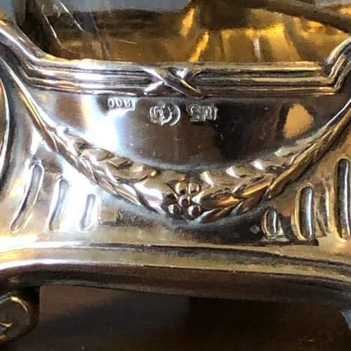 Art Nouveau Silver Salt with Glass liner image-3
