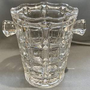 Large French Glass Ice Bucket