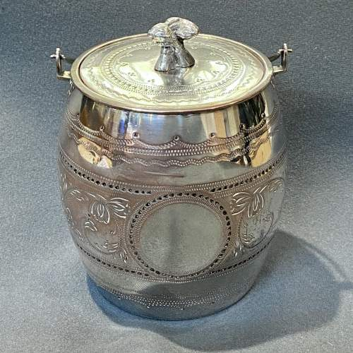 Victorian James Deakin Silver Plated Biscuit Barrel image-1