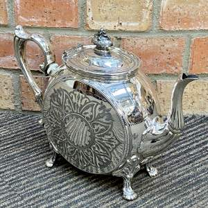 Victorian Highly Decorative Silver Plated Teapot