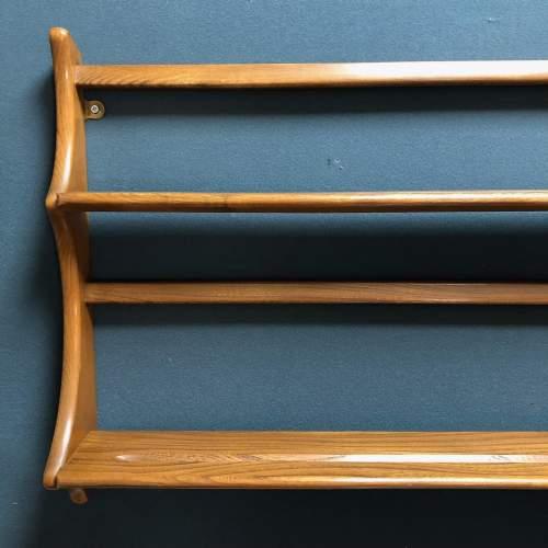 Ercol Light Oak Shelves Plate Rack image-2