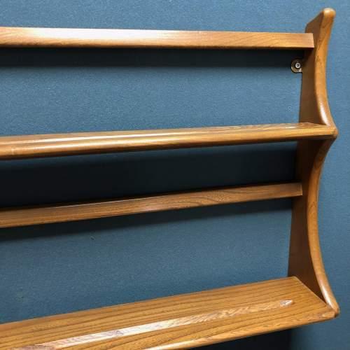 Ercol Light Oak Shelves Plate Rack image-3