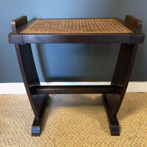 Oak Dressing Table Piano Stool with Bergere Seat image-1