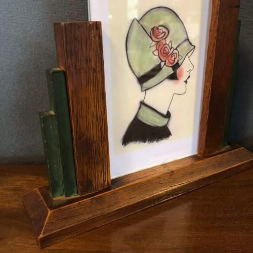 Pair of 1930s Art Deco Oak Photograph Frames image-2