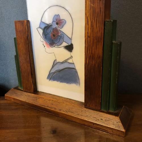 Pair of 1930s Art Deco Oak Photograph Frames image-3