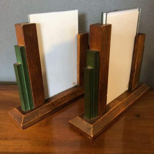 Pair of 1930s Art Deco Oak Photograph Frames image-4